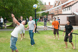 #74613,  Volleyball at the reunion for Summerhill School's 90th birthday celebrations.