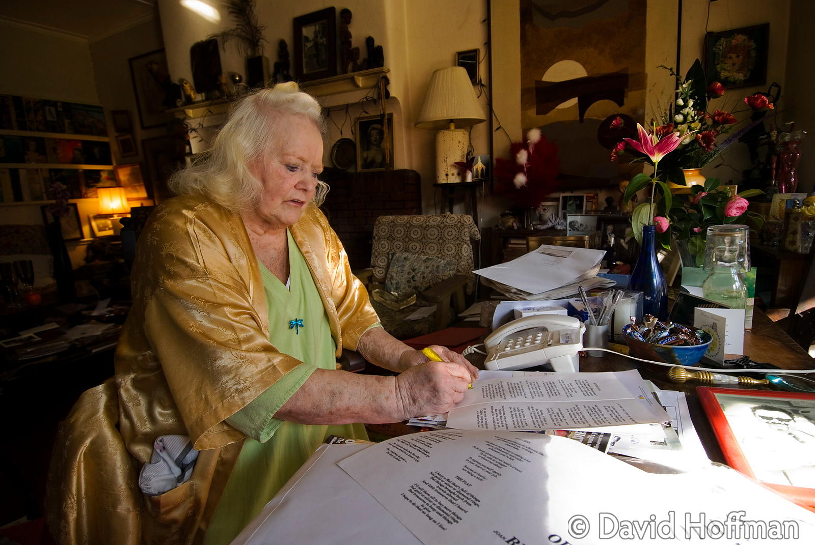 Joan Rhodes (13 April 1921 - 30 May 2010) at her home in London 5 April 2015