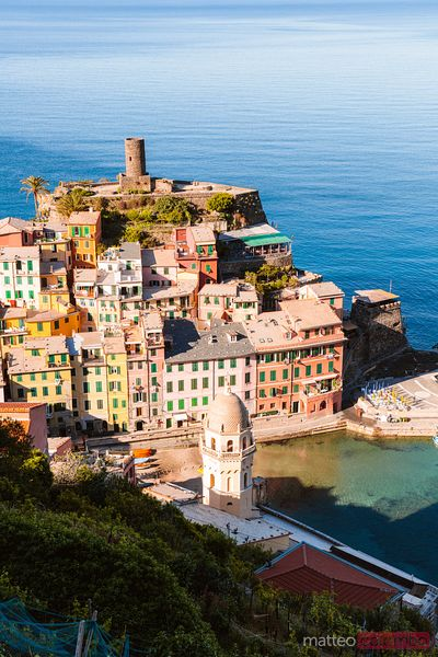 Vernazza from the top, Cinque Terre, Italy