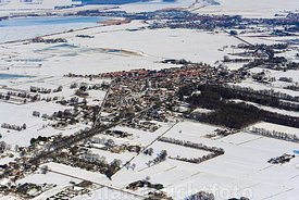 Luchtfoto Doonspijk in de winter