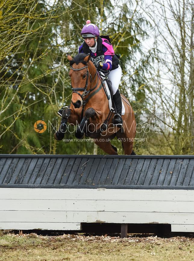 Ginny Howe and TRENDY CAPTAIN CLOVER - Intermediate Sections - Oasby Horse Trials, March 2018.