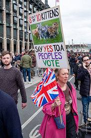 #124594,  Anti-Brexit march to Parliament Square, London, 23rd March 2019.  A million people of all ages marched demanding a ...