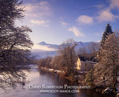Image - Cottage and the River Orchy, Dalmally, Argyll, Scotland