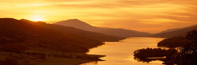 Image - Queen's View, Loch Tummel, Perthshire, Scotland, Sunset