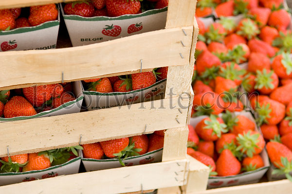 Strawberries ready for sale