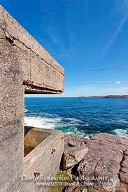 Image - Cove Coastal Battery at Rubha nan Sasan, Loch Ewe Defences