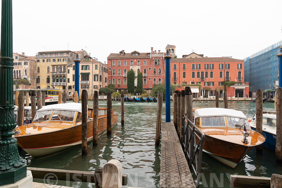 docks on the Grand Canal of Venice