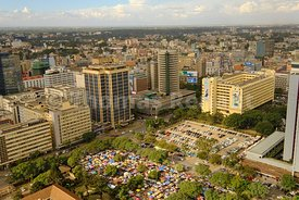 Nairobi city center, Kenya