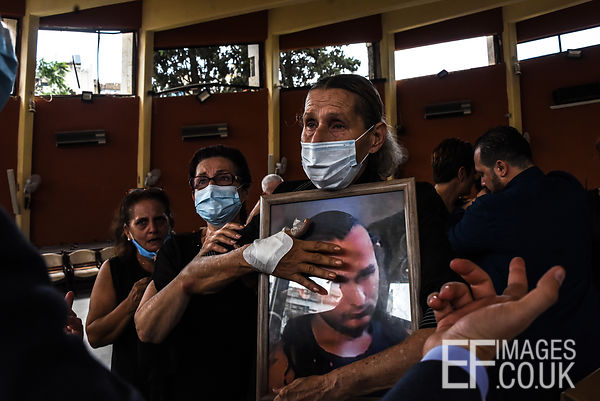Funeral of an explosion victim, Beirut, Lebanon
