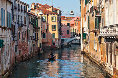 Boat on a Venetian Canal