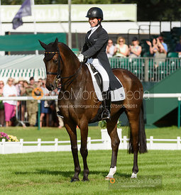 Bettina Hoy and DESIGNER 10 - dressage - Land Rover Burghley Horse Trials 2016
