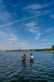 Women net-fishing in Limfjorden, Denmark 5