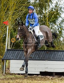 Andrew James and HOLD ME DOWN - Oasby Horse Trials, March 2018.