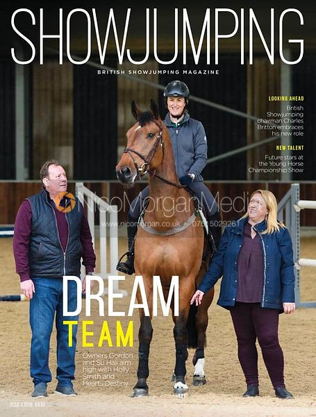 Holly Smith, Hearts Destiny, Su and Gordon Hall for British Showjumping