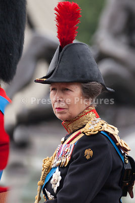 Princess Anne riding to the Trooping the Colour Ceremony in 2016