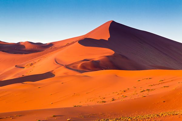 View over Dune 45 in the Sossusvlei region which is part of the Namib desert.