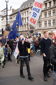 #124576,  Anti-Brexit march to Parliament Square, London, 23rd March 2019.  A million people of all ages marched demanding a ...