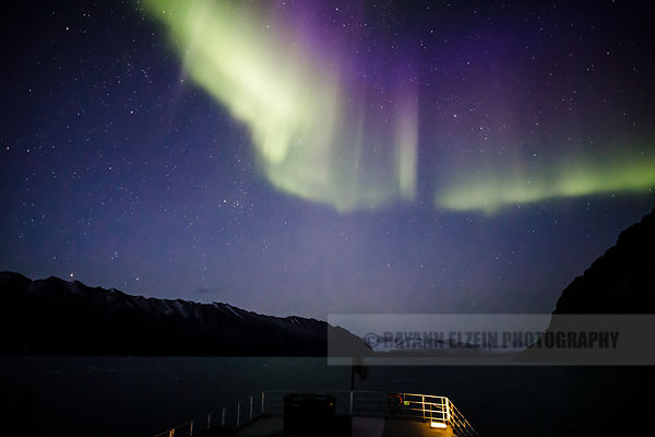 Strong display of northern lights (aurora borealis) in the night sky of Spitsbergen, Svalbard, Norway