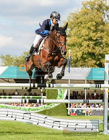 Imogen Murray and IVAR GOODEN - Show jumping and prizes - Land Rover Burghley Horse Trials 2019