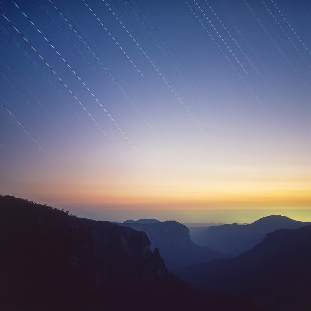 Star Trails over Blue Mountains