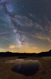 Milky Way Arm above an Acid Water