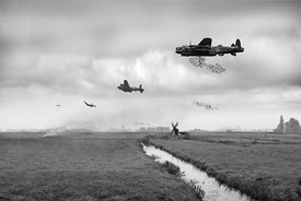 Operation Manna Lancasters B&W version
