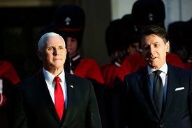 Mike Pence and Giuseppe Conte