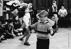 #74648,  Anna Scher Children's Theatre, Bentham Court Hall, Islington, North London 1972.  Kids would come after school and b...