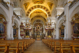SAINT PETER, GERMANY - OCTOBER 27, 2019: Interior of the baroque Abbey Church of Saint Peter in the Black Forest, Baden-Württ...