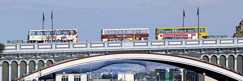 Image - Buses on the North Bridge, Edinburgh, Scotland