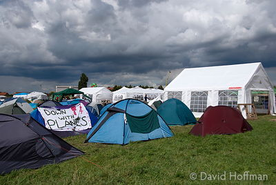 Climate Camp, Heathrow Airport, London, UK. 16 Aug 2007