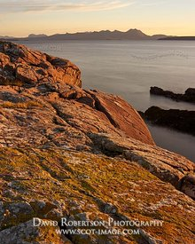 Image - Coigach viewed from Mellon Udrigle, Gruinard Bay, Wester Ross, Highland, Scotland.  At sunrise