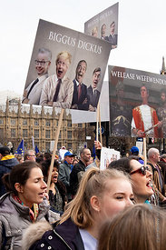 #124580,  Anti-Brexit march to Parliament Square, London, 23rd March 2019.  A million people of all ages marched demanding a ...