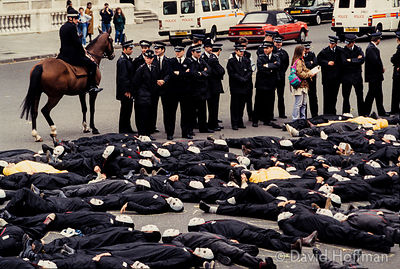 Greenpeace 'Die In' protest over the Thermal Oxide Reprocessing Plant (THORP) 1993