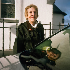 Mary, taxi driver. Sunday morning, Mallaig.