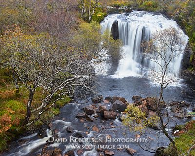 Image - Waterfall in Briagh Horrisdale, Shieldaig, near Gairloch, Wester Ross, Highland, Scotland.