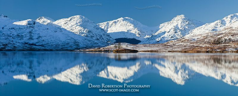 Image - Arrochar Alps, Loch Arklet, winter, snow panoramic