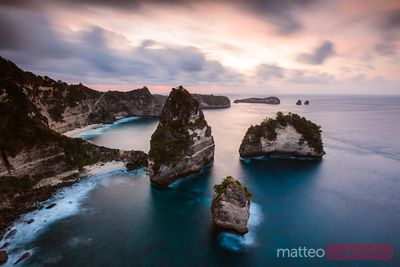 Thousand island at sunrise, Nusa Penida, Bali, Indonesia