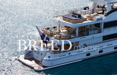 Aerial photo of superyacht EJI