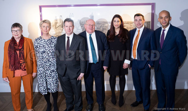 England, UK . 18.2.2019. London . Seven Labour MP's, 'The Independent Group', L-R Ann Coffey, Angela Smith, Chris Leslie, Mik...