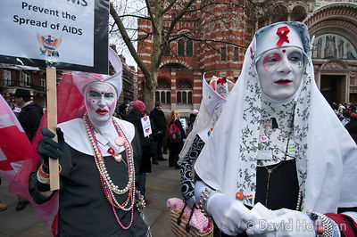100214 Anti Pope Visit 017 The sisters of perpetual indulgence lead a protest against the proposed visit by the Pope followin...
