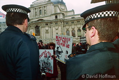 02031801-15 Anti police protests as police officers from across the country converged on London for a mass rally to protest a...