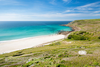 Gwynver (Gwenver) Beach, near Sennen, Cornwall - BP6737