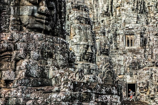 Bayon. Angkor Thom, Angkor Wat Archaeological Site, Cambodia, Siem Reap, South-East Asia.