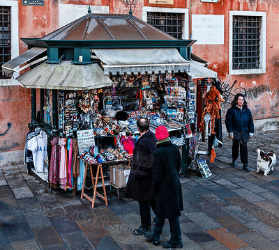 Kiosk with Souvenirs in Venice