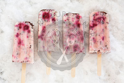 Raspberry & Chocolate Yoghurt Ice Blocks