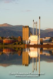 Image - United Glass Ltd Glass Works reflected in the River Forth, Alloa, Clackmannanshire, Scotland