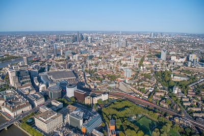 Aerial view of Lambeth North , Waterloo, Newington, Elephant and Castle, London