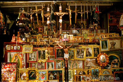 Religious Shop Mexico City 1 Shop in Mexico City selling religious artefacts, regalia & books.