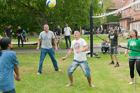 #74610,  Volleyball at the reunion for Summerhill School's 90th birthday celebrations.